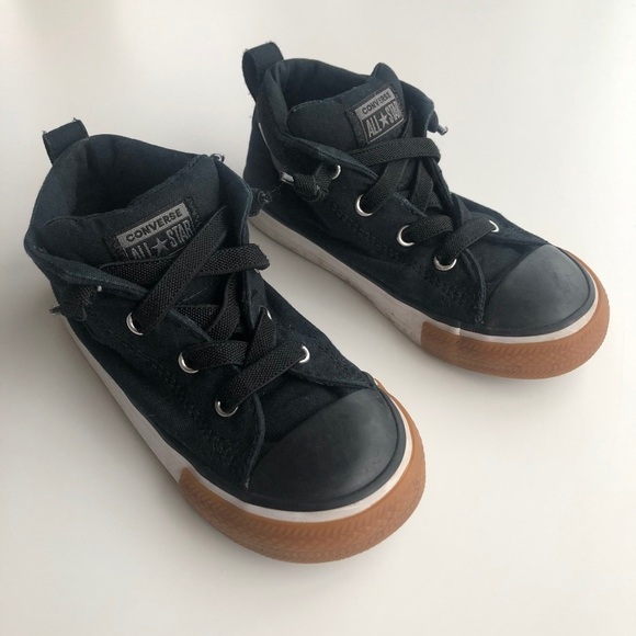 Converse All Star Black High Tops Size 9 US Kids